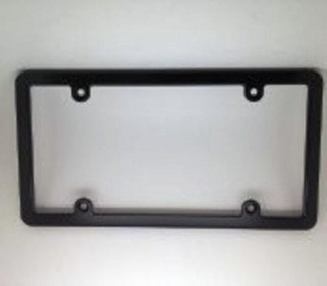 Billet Aluminum License Plate Frame SlimLine Black Anodized | Etsy