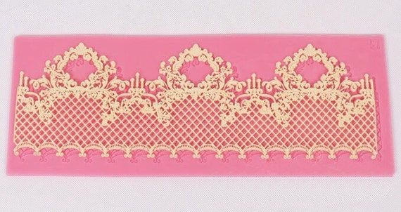 L008 Lace Silicone Mold Mould Sugar Craft  Mat Cake Decorating Baking Tool