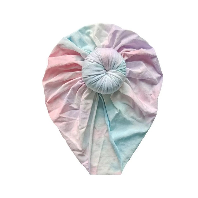 Baby Shower gift Newborn baby Gift Baby Turban Baby Hairband Baby Girl Gift Baby Head Bow Tie Dye Baby Bow Headband Set