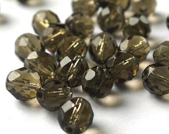 Facettierte Glasschliffperlen 16x12mm Schwarz 10 Stück #G9//6