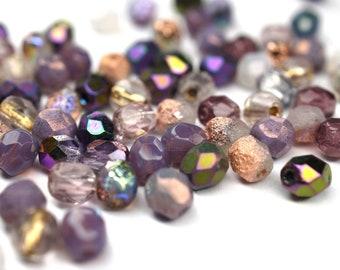 20 bohemian glass beads lace emerald 12 x 5 mm