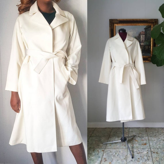 70s London Fog Cream Belted Trench Coat Wrap Coat Olivia Pope Style by Etsy