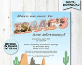 Radiator Springs Personalized Invitations