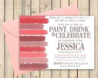 a90127404d8 Art Party Bridal Shower Invitation