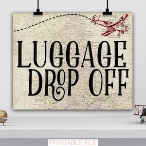 Miss to Mrs Travel Birthday Decor Arrivals Party Sign Airplane Old Maps Theme Sign Adventure Awaits Baby Bridal Shower Digital