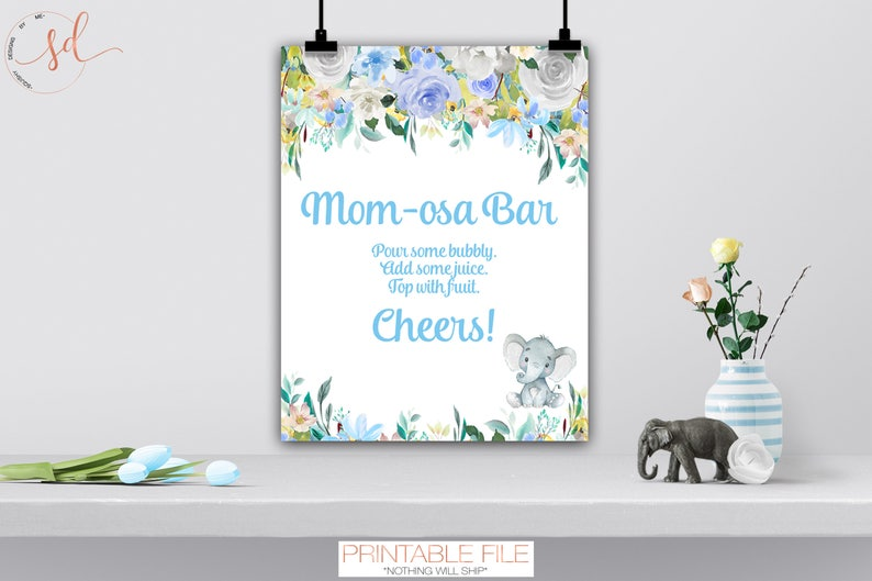 Advice for Mommy Baby Shower Game Sign, Elephant Theme Decor, Advice for  New Mom and Dad, Advice for Parents Game Sign, Digital or Printed