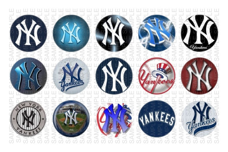 photograph about Printable Bottlecap Images referred to as NY Yankees - 1 inch Bottle Cap Visuals 4x6 Printable Bottlecap Collage Fast Down load