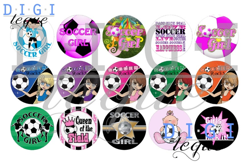 picture regarding Printable Bottlecap Images identify Football Woman - 1 inch Bottle Cap Shots 4x6 Printable Bottlecap Collage Prompt Obtain