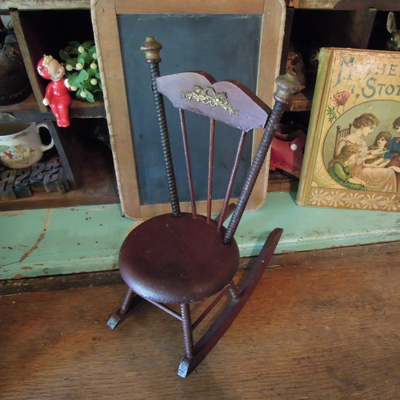 Awesome Antique French Doll Rocking Chair Solid Wood Rocking Chair Beatyapartments Chair Design Images Beatyapartmentscom
