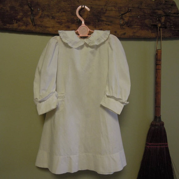 Vintage Victorian Child's Dress / Antique White Co