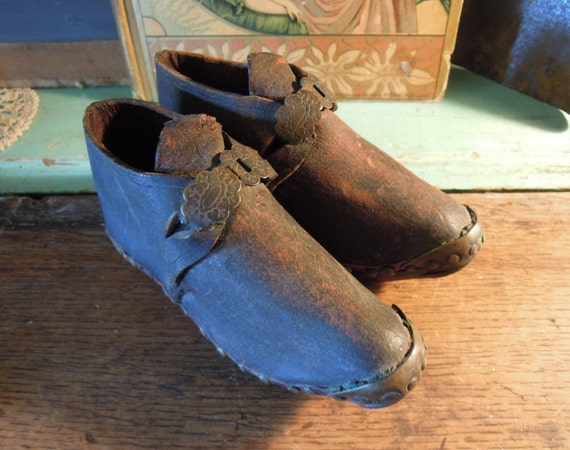 Antique Children's Sabot Clogs / Handmade Clogs /