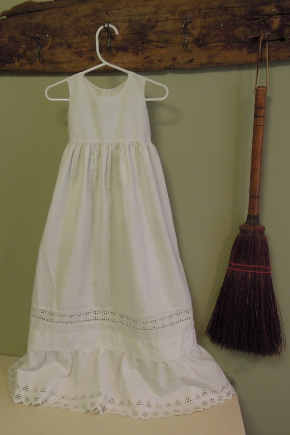 Antique Victorian Christening Gown / White Newborn