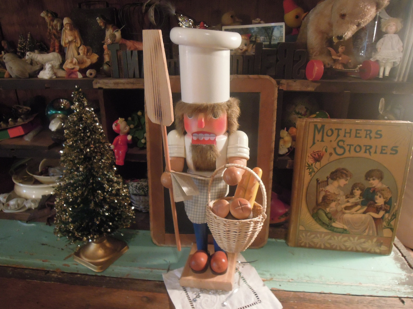 Vintage Holzkunst Christian Ulbricht / Baker Chief Nutcracker / Made in West Germany