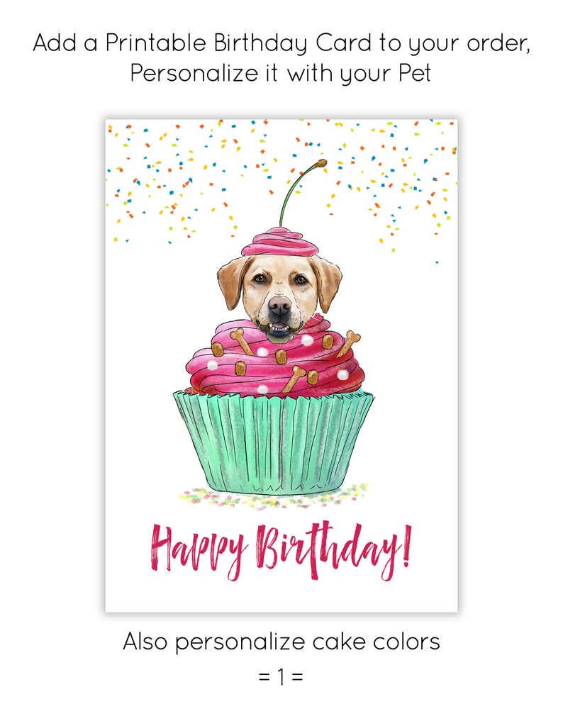 Printable Birthday Card Personalized Greeting Dog Mom