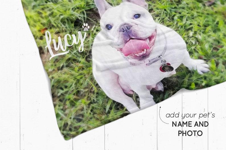 6c6a0a30f8 Custom pet photo blanket personalized dog blanket fleece