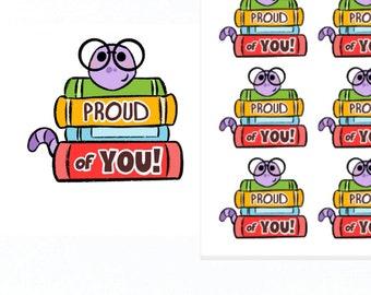 Proud of You Stickers |Teacher Reward Stickers | Teacher Stickers | Reward Stickers