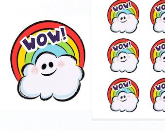 Wow Stickers |Teacher Reward Stickers | Teacher Stickers | Reward Stickers
