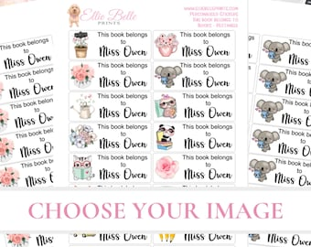 This Book Belongs to stickers | Choose Your Image | Book Stickers | Teacher Stickers | Personalized Teacher Stickers | Book Labels