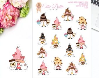 Coffee Gnomes Planner Stickers  | Gnome Stickers | Planner Stickers