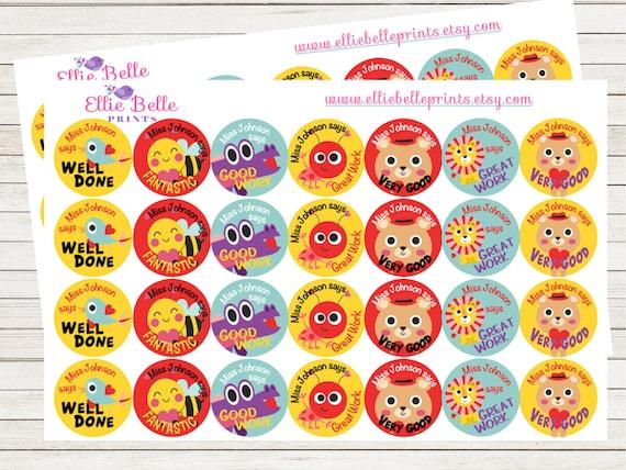 56 personalised teacher reward stickers little critters
