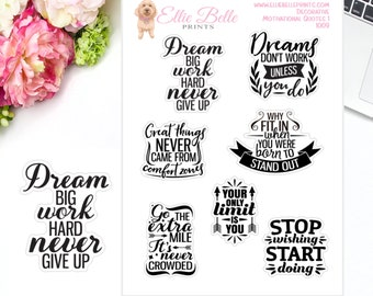 Motivational Quote Stickers 2 | Planner Stickers | Inspirational Quotes | Motivational Quotes
