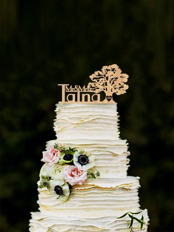 Hochzeitstorte Topper Personalisierte Holz Cake Topper Etsy