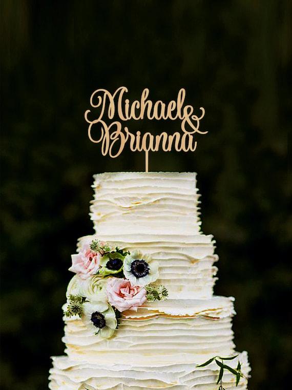 Hochzeitstorte Topper Personalisierte Namen Cake Topper Etsy