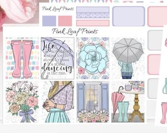 Matte | Rainy Days |  Weekly Planner Sticker Kit