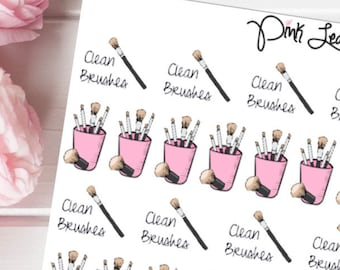 Clean Brushes Doodle Planner Stickers