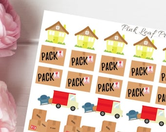 Moving Day | Planner Sticker Set