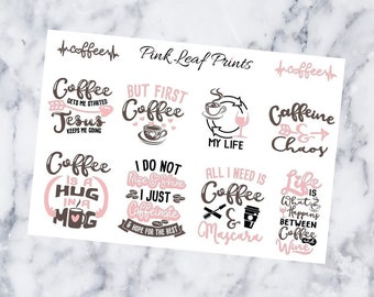 Coffee Quotes | Planner Sticker Sheet