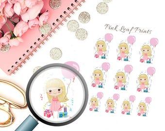 Planner Girl | Birthday Girl | Mini Deco Planner Sticker Sheet