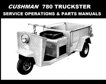 cushman haulster turf truckster parts manual collection etsy rh etsy com Cushman Model Numbers Cushman Model Numbers