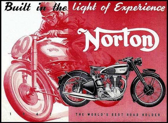 norton manx 30 40 repair operations manuals international etsy rh etsy com Norton Classic Norton Motorcycle Logo