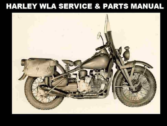 HARLEY DAVIDSON WLA Service and Parts Manuals 270pgs with | EtsyEtsy