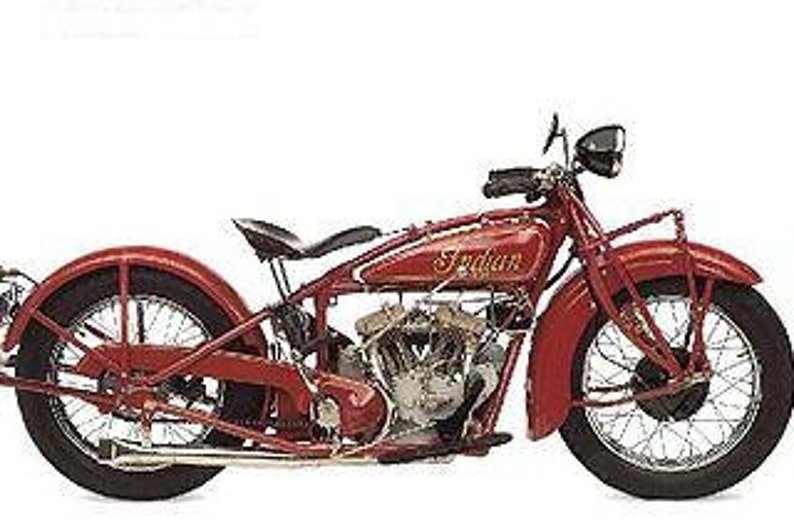 1920 1928 Indian Scout Motorcycle Parts Manual 115pgs With Etsy
