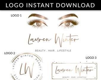 2f55377be63 Lash Logo, EyeLash Logo, Lashes Logo, Lash Extension Logo, Brow Logo, Eyelash  Logo Design, Logo, Logo Template, Instant Download Logo