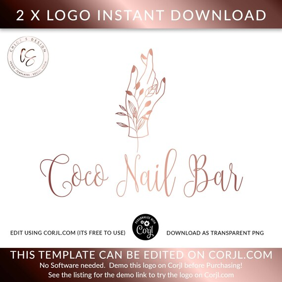 NAIL SALON LOGO, Nail Bar Logo, Nail Artist Logo, Beauty Logo, Logo