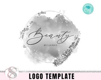 Silver Beauty Logo Design, Makeup artist logo, Boutique logo, Salon Logo, Premade logo