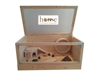 Extra Large Wooden Hamster Cage 90x50cm
