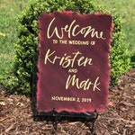 Acrylic Wedding Welcome Sign with Painted Back, Acrylic Wedding Sign, Wedding Welcome Sign, Wedding Reception Sign, Wedding Ceremony Sign