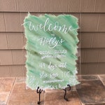 Acrylic Bridal Shower Welcome Sign with Painted Back, Acrylic Bridal Shower Sign, Bridal Shower Welcome Sign