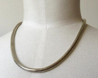 "Vintage Indian Rajasthan 800 Silver Heavy Snake Chain Necklace 73 grams 18"" length"