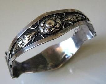 Vintage Rajasthan Indian Silver Bracelet 20 grams