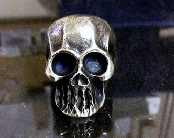 Heavy Sterling Silver Skull Ring Keith Richards The Punisher