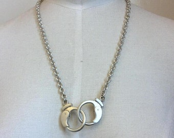Solid Sterling Silver Handmade Keith Richards Style Handcuff Necklace 55-60 grams