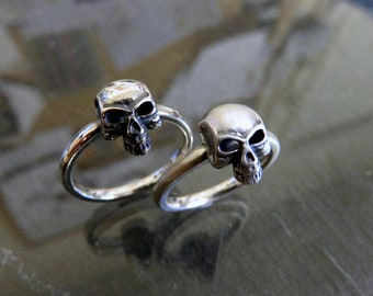Solid Sterling Silver Mini Skull Ring