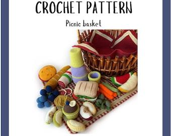 Crochet play food pattern - Play Pretend Food - Amigurumi Pattern