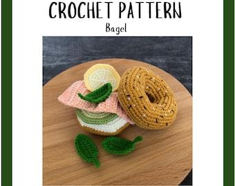Crochet Bagel Pattern - Crochet Food Pattern - Amigurumi Play Food Pattern