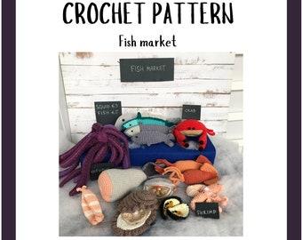 Fish Pattern - Crochet Play Food Pattern - Amigurumi Toys Pattern